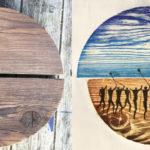 Print from wood grain