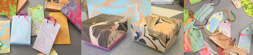 Paper Marbling with Blueberry Academy
