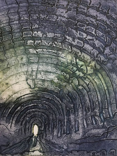 cement print of tunnel
