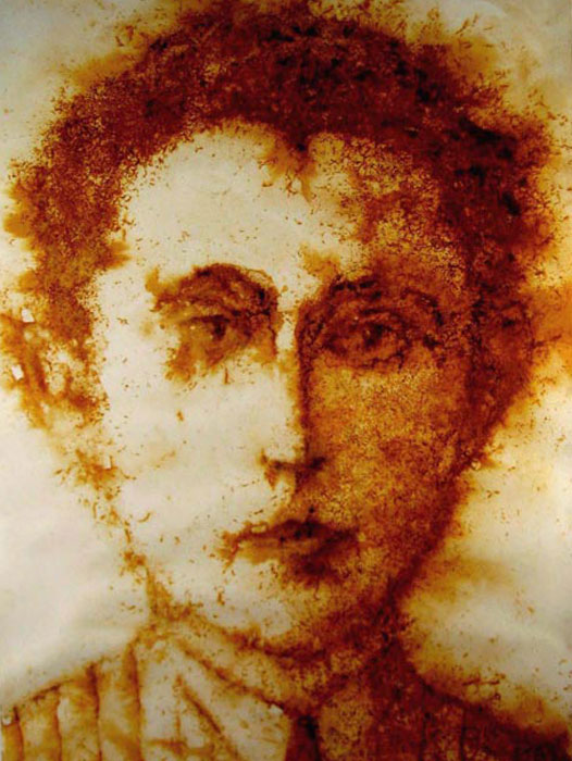 rust printed face, Esther stolendz