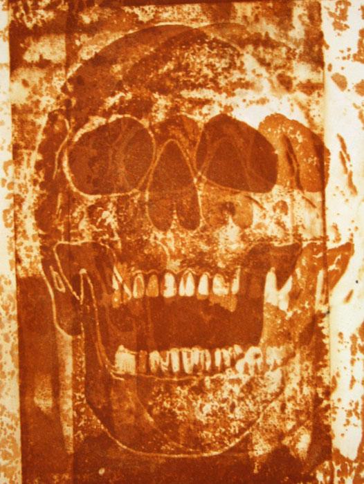 Skull rust print