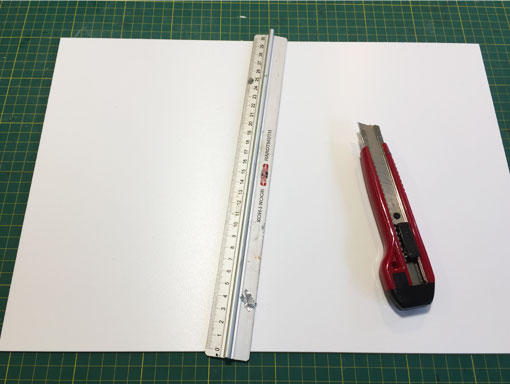 knife and ruler for cutting PVC foamboard