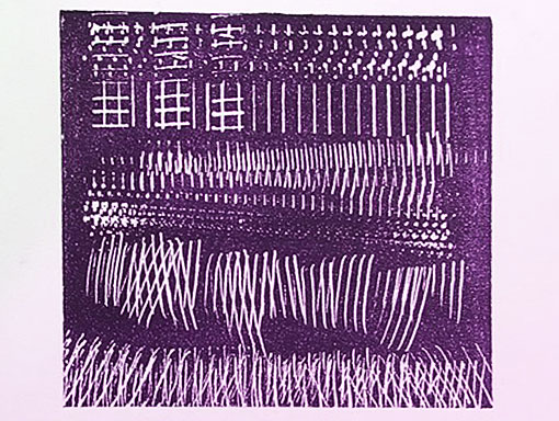marks made with a dog comb