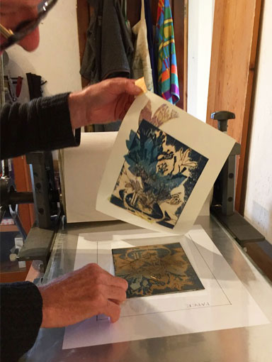 Lifting the print from the plate