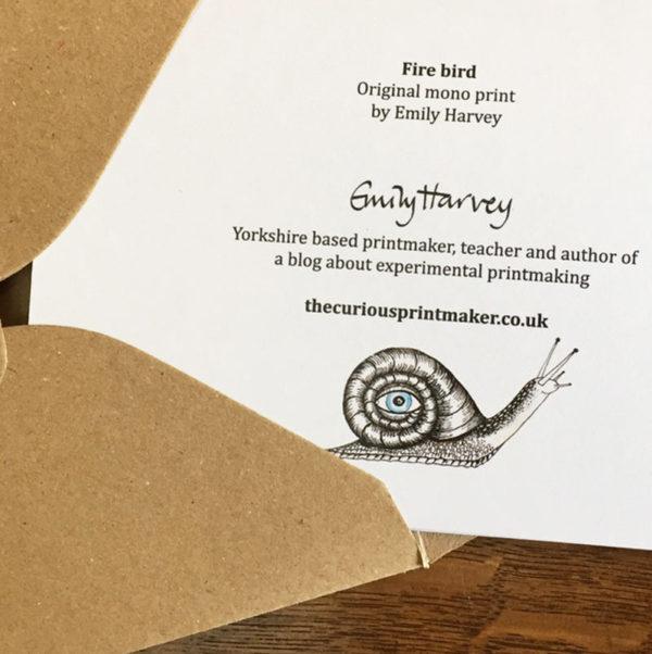 firebird greeting card back
