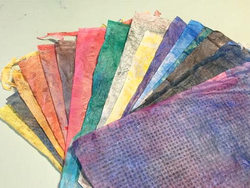 coloured wet strength tissue