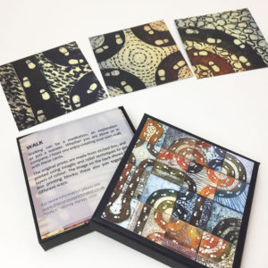Walk card pack; box and sample cards