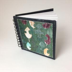 sketchbook with original rose leaves print cover