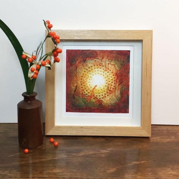 Ballymenach collagraph print framed