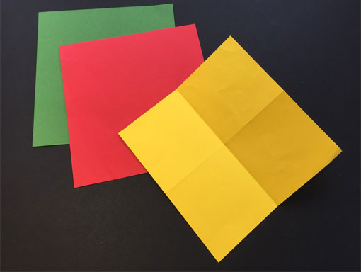 cross folded paper for explosion book