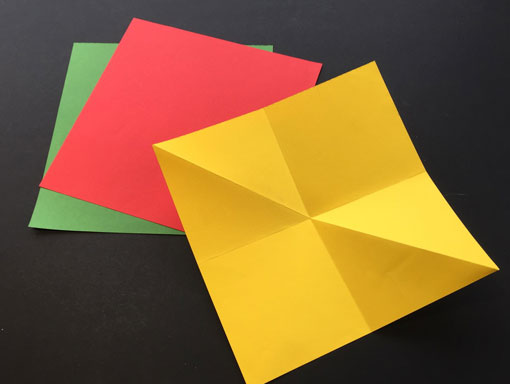 diagonal folded paper for explosion book