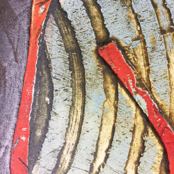 Dod Law collagraph print detail