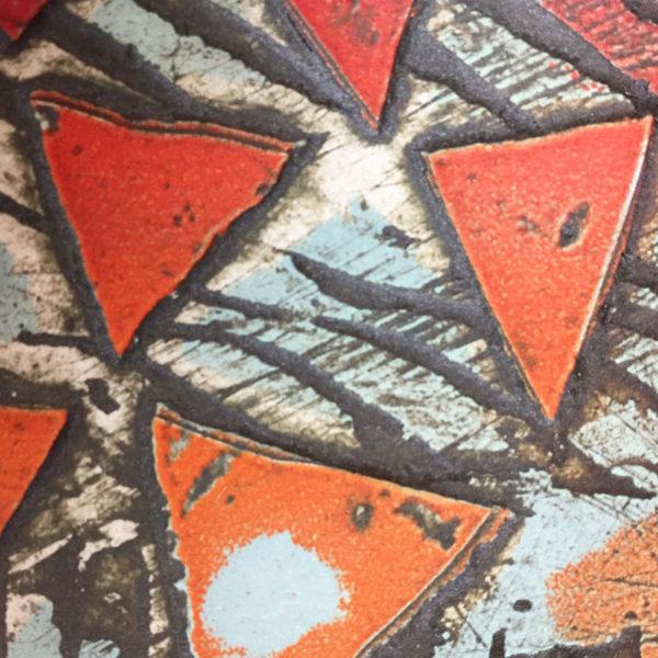 New Grange collagraph print detail