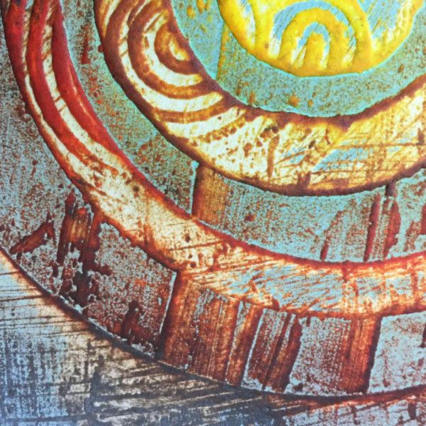 Old Berwick collagraph print detail