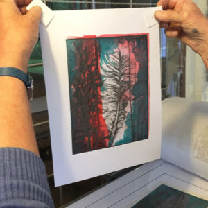feather collagraph