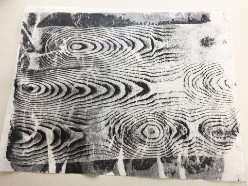 moire print on we strength tissue