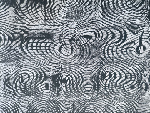 a double moire print in black