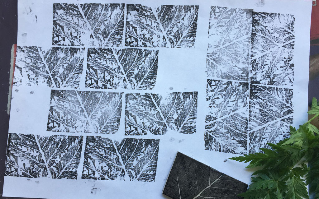 Plasticine Block Printing