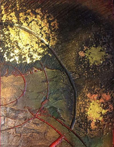 collagraph plate with gilding