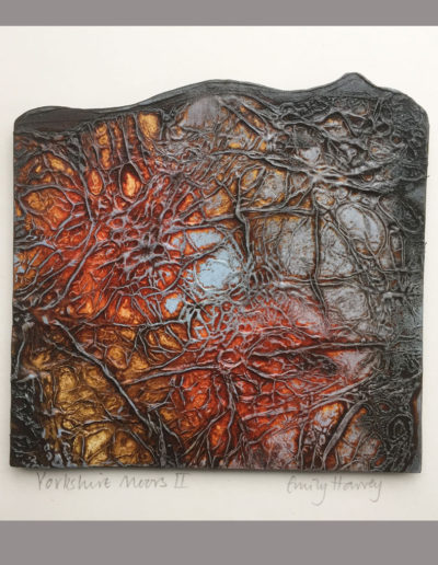 Orignal collagraph plate made from tyvek