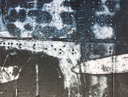collagraph print detail without white ink