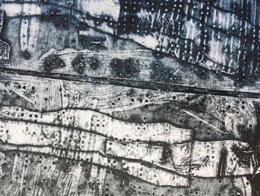 collagraph detail without white ink relief