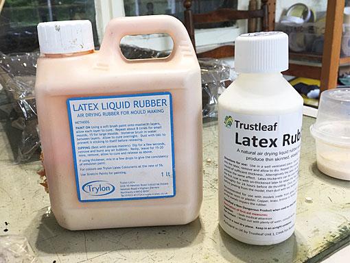 bottles of latex