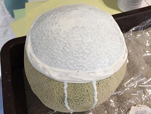 casting a melon in latex