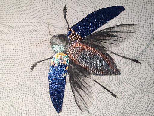 beetle print using mica
