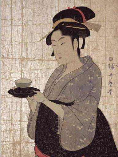 Utamaro print with mica