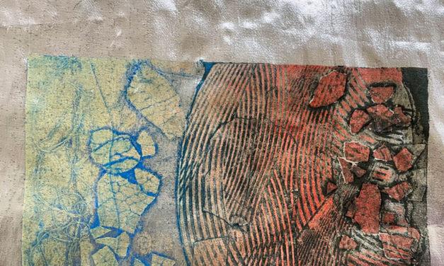 Printing collagraphs on textiles