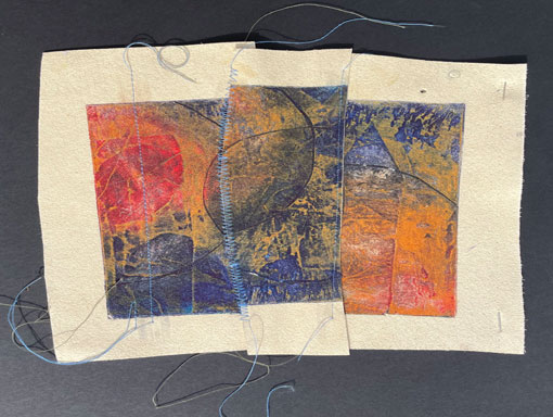 collagraph pn textile cut up and sewn