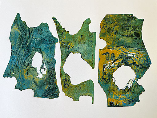 printed shaped collagraph plates