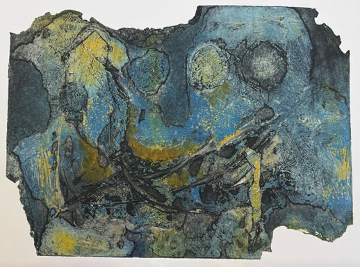 collagraph print from burnt plate
