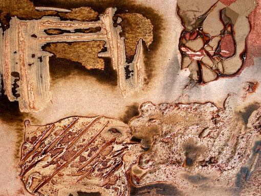 samples of burnt acrylic gels