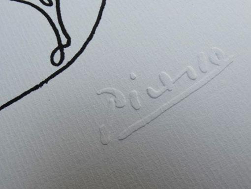 Picasso's stamped signature